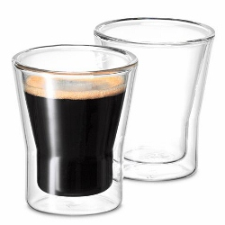 Avanti Uno Twin Wall Espresso Glasses 80ml. Set of 4.