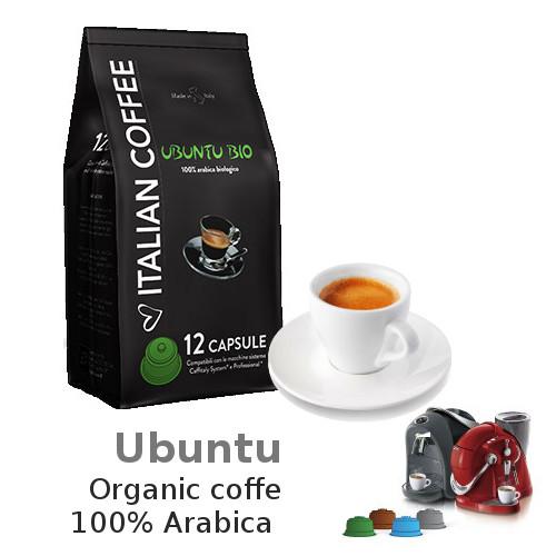 Caffitaly Ubuntu Organic X12 Capsules Coffee Supplies